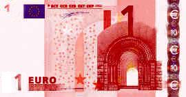 1 euro billet