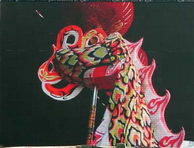 China New Year London Dragon head