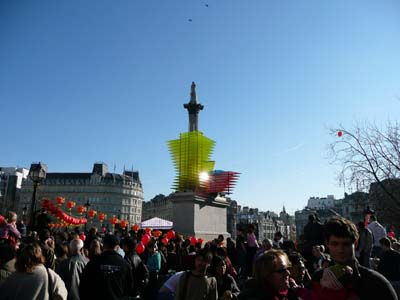 China New Year London Trafalgare square