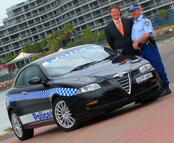 Alfa Romea police australie