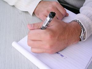 Ecriture main gauche