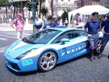 Lamborghini Gallardo police Italie Rue