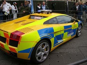 Lamborghini Gallardo police UK